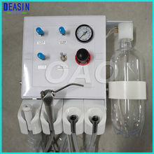 Зубные лаборатория портативный слабый всасывания два турбины блок воздушный компрессор 3 way соломы стены тип висит