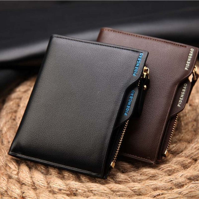 75e77f2971d3a Europe and the United States creative wallet short draw with men s wallet  zipper driver s license male wallet youth small wallet