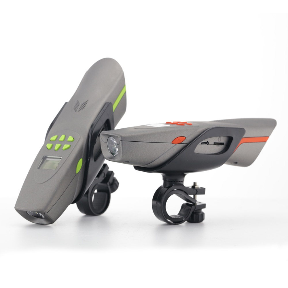 AV126B mountain bike audio bluetooth music hands-free call outdoor speaker with bike light FM radio MP3 honking