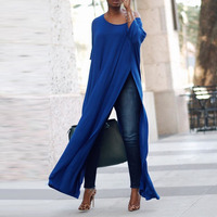 2018 CELMIA Sexy Plus Size S 5XL One Shoulder 3 4 Sleeve Loose Basic Tops Women