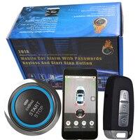 Автомобильный умный rfid gps Автомобильная сигнализация с кнопка запуска и стоп двигатель автомобиля и смартфон приложение управление Автоза