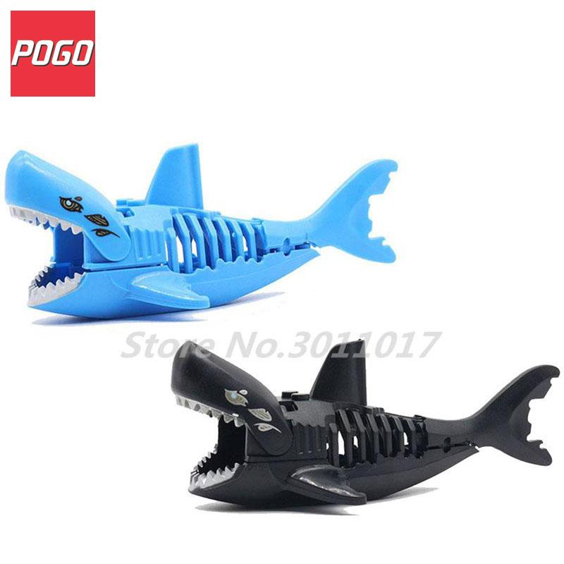 Blue and Black Ghost Zombie Shark Block Pirates of the Caribbean Figures Single Sale Lepin Building Blocks Set Model Bricks Toys hot classic movie pirates of the caribbean imperial warships building block model mini army figures lepins bricks 10210 toys