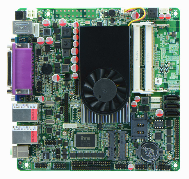 IPC mini itx motherboard 847U 1.1G CPU 10COM POS Queue Dual Gigabit LAN M847_D10 22nm 17W lowpower processor i3-grade DDR3 DC12V