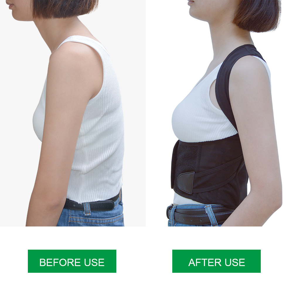Povihome Back Waist Support Belt Posture Corrector Backs Medical Belt Lumbar Child Student Adult Male Corset For Posture C776
