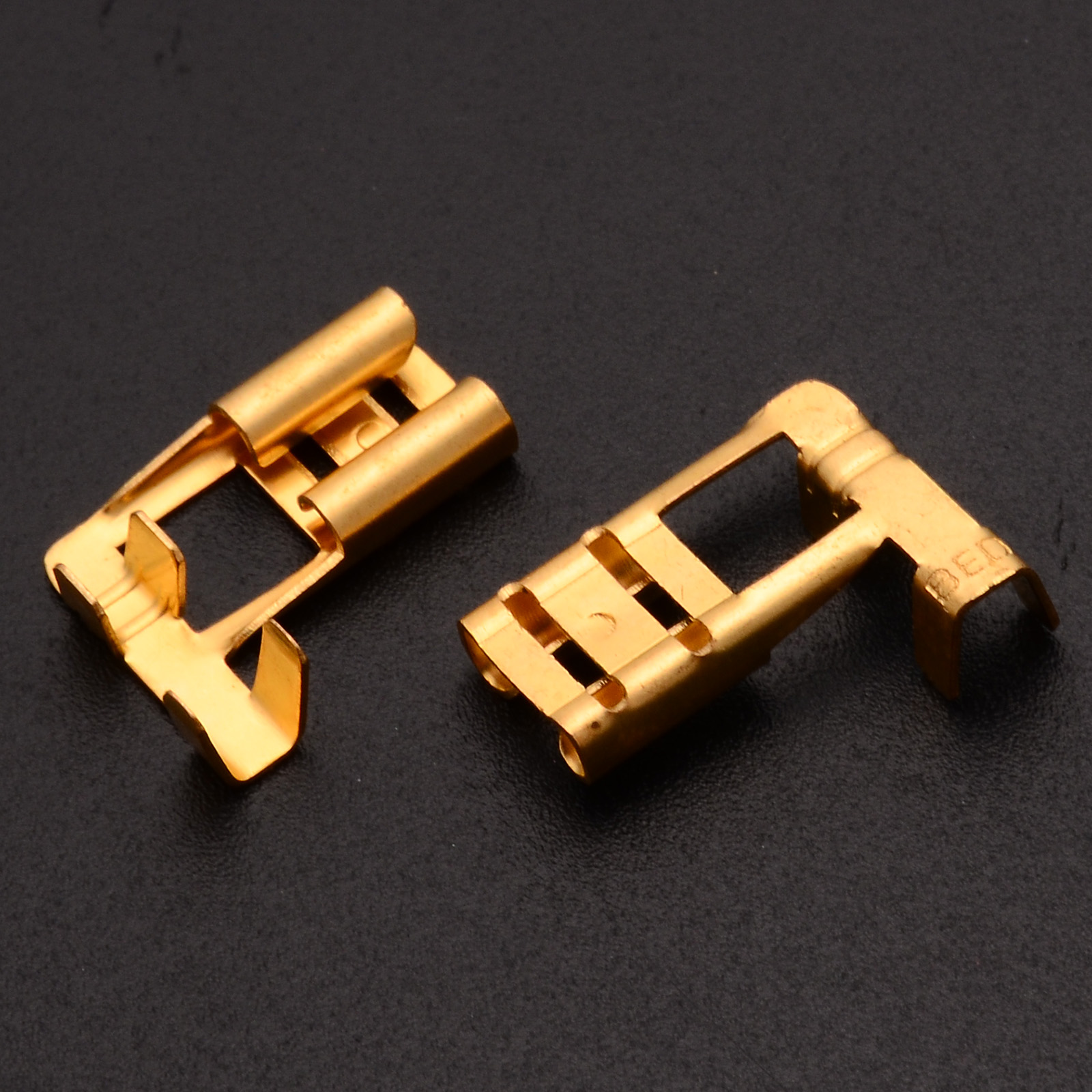 144pcs 2.8mm Electrical Connector Automotive Motorcycle Brass Bullet Connecto…