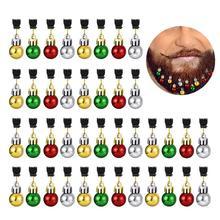 12 PCS Christmas Round Bulb Clip Beard Ornament 2CM Vibrant Colorful Decorative With Random Color