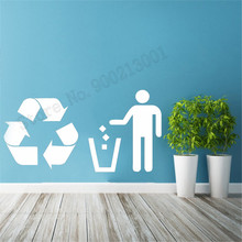 Trash Recycle Recycling Poster Removeable Vinyl Decoration For Home Beautiful Modern Fashion Ornament Decor Decals LY983 recycling fun