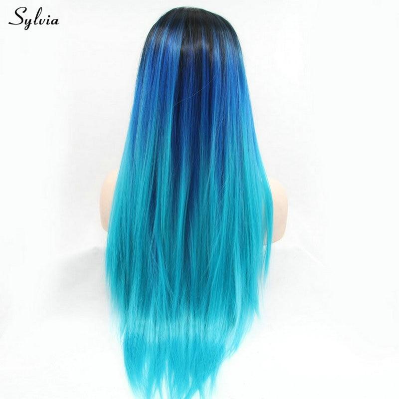 Sylvia Heat Resistant Fiber Colored Hair Long Silky Straight Dark