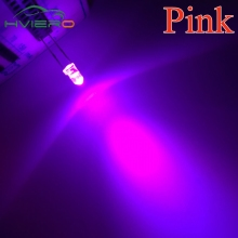 3mm Round Pink 1000pcs Super Bright Light Bulb Led Light-emitting diode Lamp Wholesale