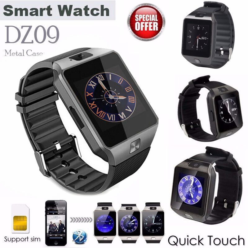 6bd492671f Free Shipping Men's watch Black Bluetooth DZ09 Smartwatch GSM SIM Card With  Camera For Android IOS