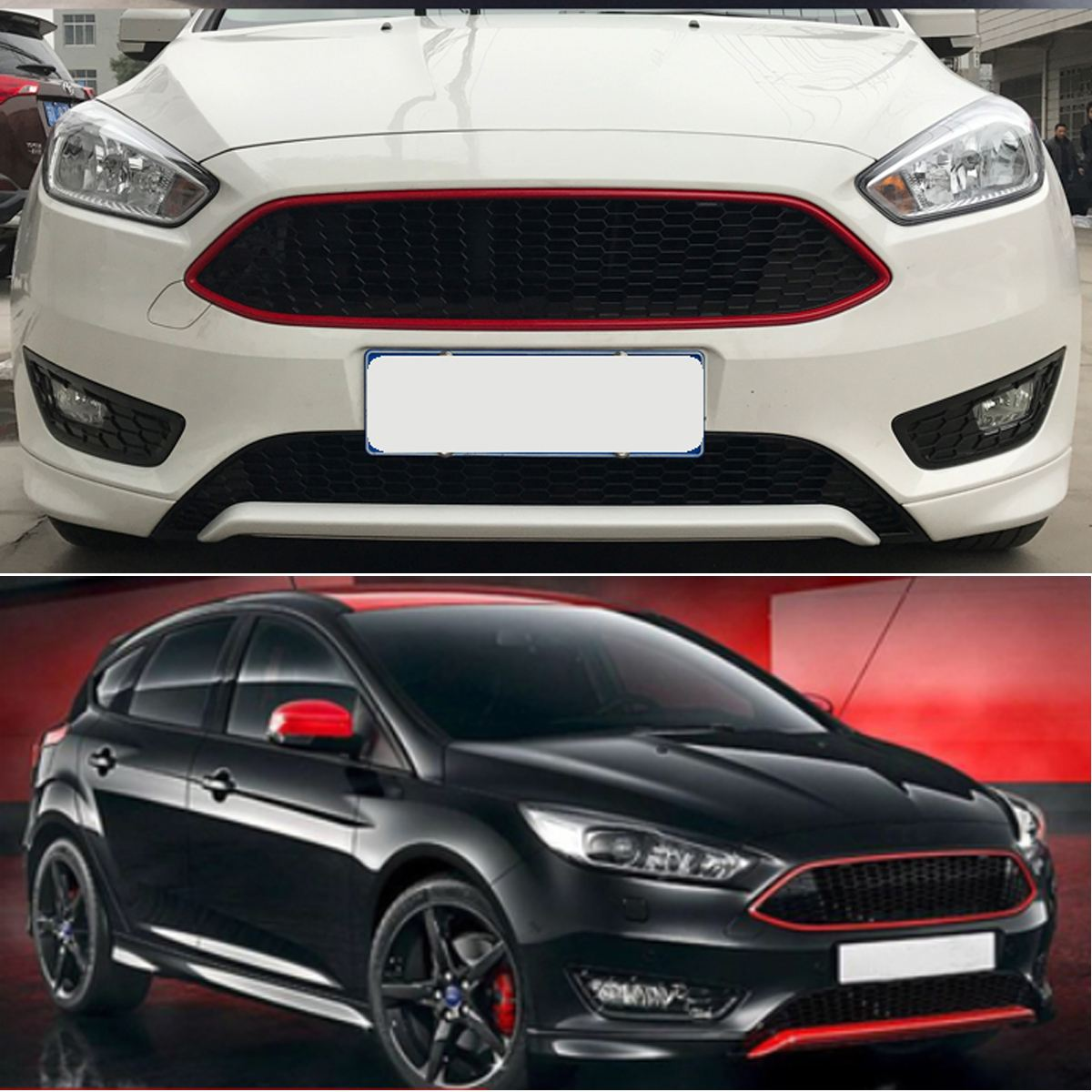 Spary Painted Honeycombed Nest Bee Grille Grill For Ford For Focus