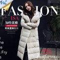 2016 de la moda de invierno chaqueta de las mujeres parkas pato abajo escudo cuello alto con cinturón para las mujeres caliente del invierno abrigos abrigos