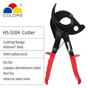 Image 5 - Cortador de cables de trinquete para cortar cables de cobre aluminio, estándar y Cable único multitrenzado, cortadores de cable Eléctrico