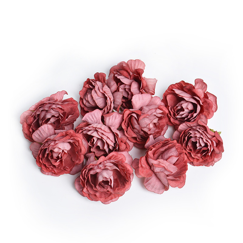 10pcs/lot Silk Roses Artificial Flowers For Wedding And Home Decorations 14
