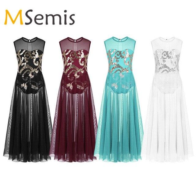 Teen Girls Lyrical Dress Praise Dance Dress Lyrical Costume Floral