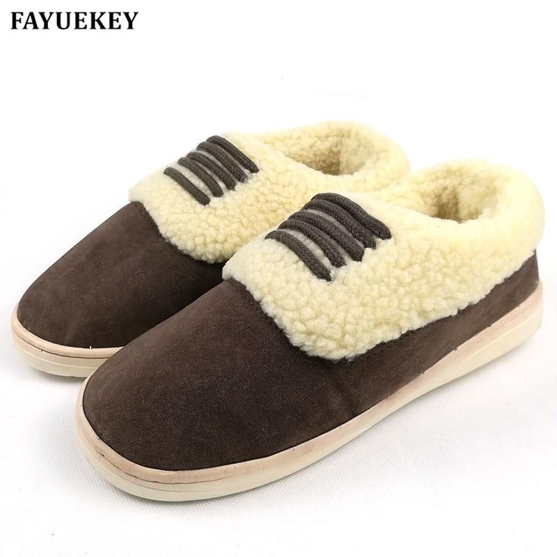 FAYUEKEY Winter Home Thermal Thickening çiftet e çiftëzuara pantofla IndoorFloor Lover pantofla të ngrohta të ngrohta Transporti falas