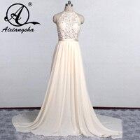 Vestido De Noiva Cheap Beach Wedding Dress 2017 White Ivory Spaghetti Straps Beaded Wedding Gowns Sleeveless