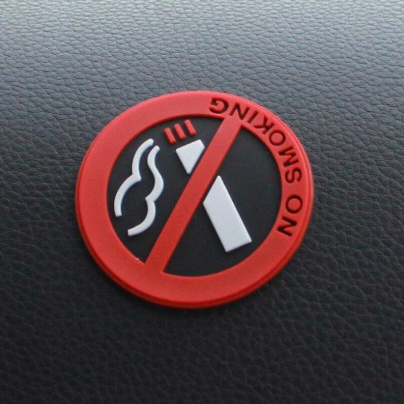 Автомобиль не курить знак советы Предупреждение логотип наклейки для Toyota Camry Горец RAV4 Crown Reiz Corolla Vios Yaris L