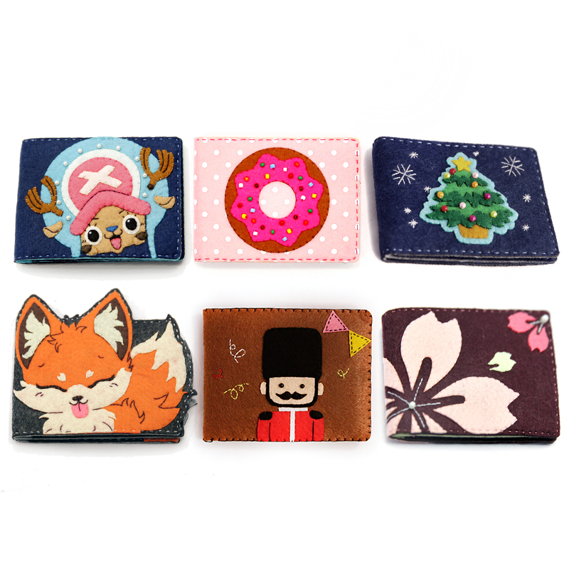 c583691b76acc0 6 Styles Felt Cloth Girls Driving License Bag Handmade Sewing Credit Card Holder  Cover Felt DIY