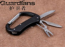 Stainless Steel 3 Open Pocket Knife Mountaineering Camp D Type Fast Buckle More Function Outdoors Buckle