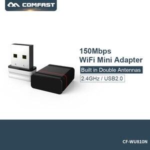 Image 1 - Mini Comfast CF WU810N 1 adaptador 150 M אלחוטי wifi גישה נקודת usb wifi dongle מתאם wifi usb RTL 8188EUS