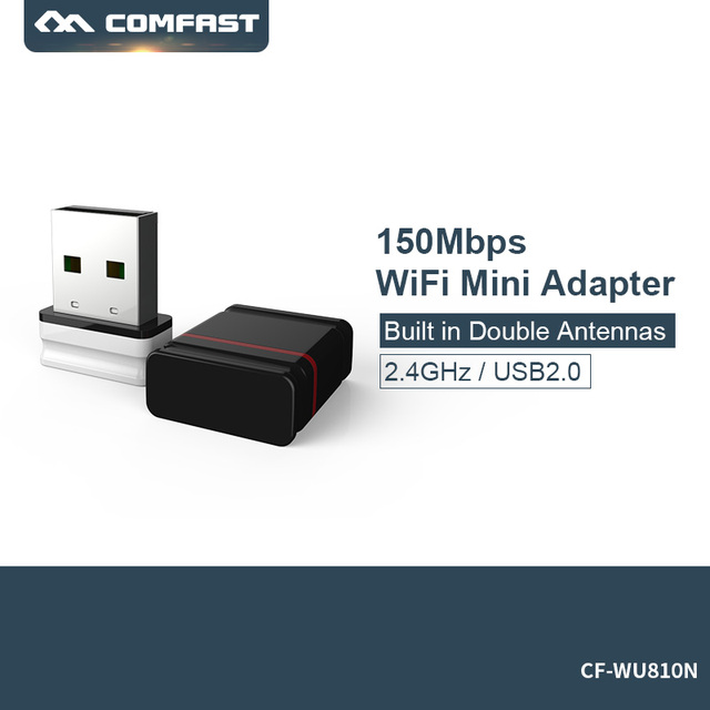 Mini Comfast CF WU810N 1 adaptador 150 M אלחוטי wifi גישה נקודת usb wifi dongle מתאם wifi usb RTL 8188EUS