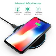 Portable Ultra-thin Round Shape Qi Wireless Charger Charging Pad Universal Phone Base Safe Quick for friend and
