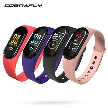 COBRAFLY smart band watch M4 waterproof blood pressure sport band fitness tracker smartwatch smart health bracelet wristband 1