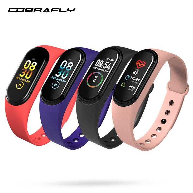 COBRAFLY intelligent bande montre M4 étanche pression artérielle sport bande fitness tracker smartwatch intelligent santé bracelet bracelet