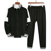 Men Patchwork Tracksuit Athletic Two Piece Sweatsuit Zip-up Jacket and Skinny Long Pants Sportwear Jogger Suit Men's Jogger Set selvedge embellished zip up pocket jogger pants
