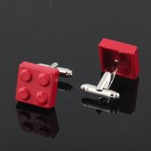 Men's Colorful Lego Blocks Themed Cufflinks