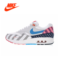Original New Arrival Authentic Nike Air Max 1 Parra White Multi Men's Comfortable Running Shoes Sneakers Good Quality AT3057 100