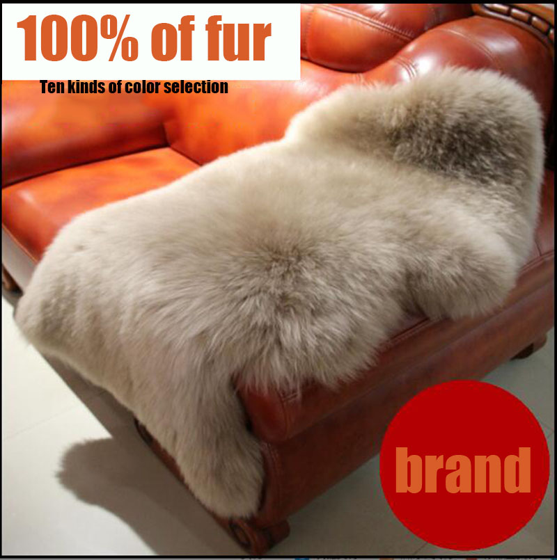 100% pure sheepskin rug   A piece of whole skin 60cm*100cmColor yellow and tip  free shipping