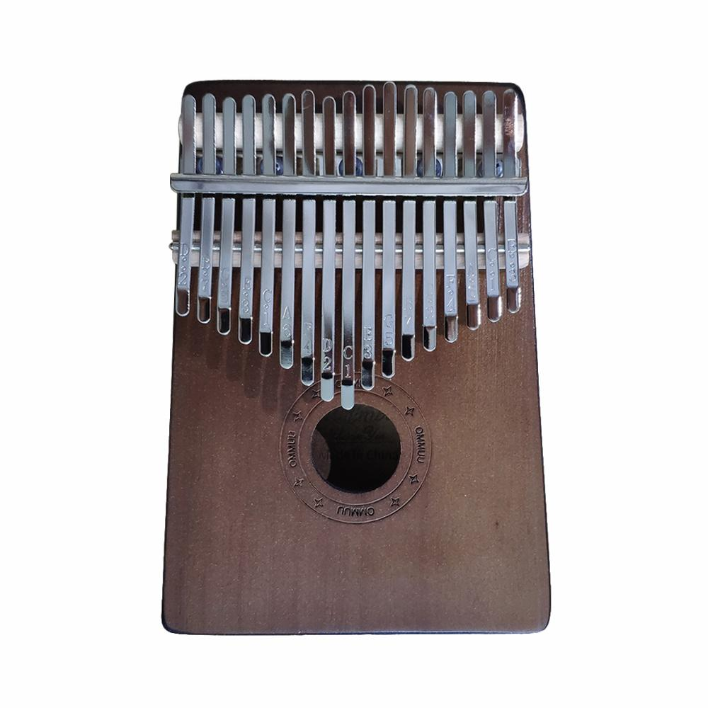 17 Keys Kalimba Thumb Piano High-Quality Wood Pine  Body Musical Instrument With Learning Book Tune Hammer