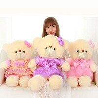 CXZYKING 55 cm Kích Thước Lớn Teddy Bear Plush Đồ Chơi Vải Nơ thú nhồi bông Ted Gấu Búp Bê Cho Cô Gái Món Quà Sinh Nhật Mềm đồ chơi