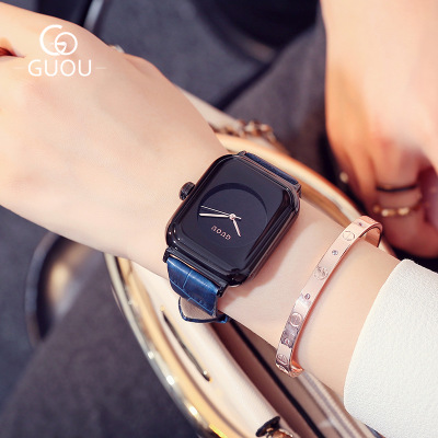 GUOU Brand Women Watches Women antique Square reloj mujer Luxury Dress Watch Ladies Quartz Leather Wrist Watch Relogio feminino guou 2018 new quartz women watches luxury brand fashion square dial wristwatch ladies genuine leather watch relogio feminino