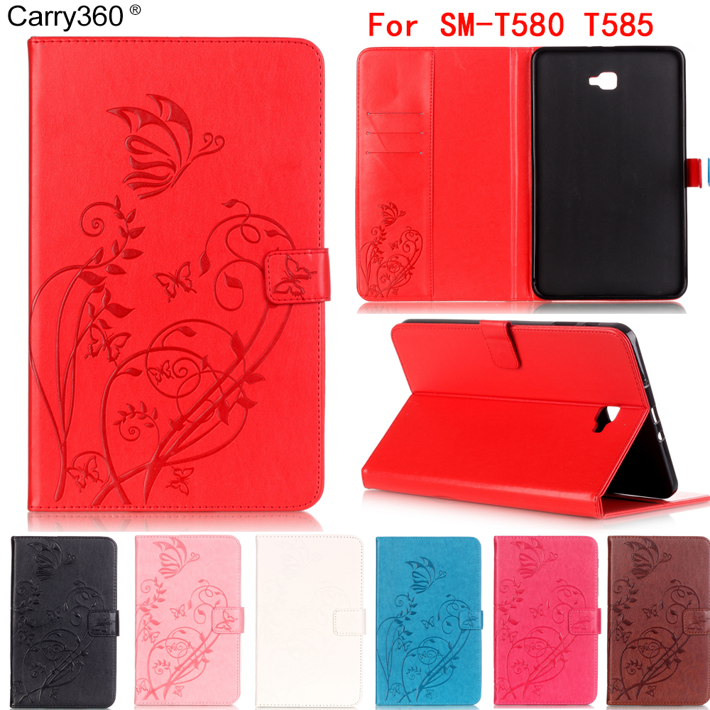 Carry360 New Fashion Carved PU leather case For samsung galaxy tab A 10.1 SM-T580 SM-T585 10.1'' Tablet smart case+Touch pen аксессуар чехол samsung galaxy tab a 7 sm t285 sm t280 it baggage мультистенд black itssgta74 1
