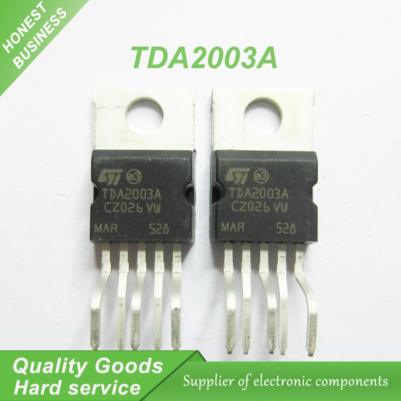 10PCS free shipping TDA2003 TDA2003A power amplifier chip single supply 12V 10W power amplifier chip 100% new original