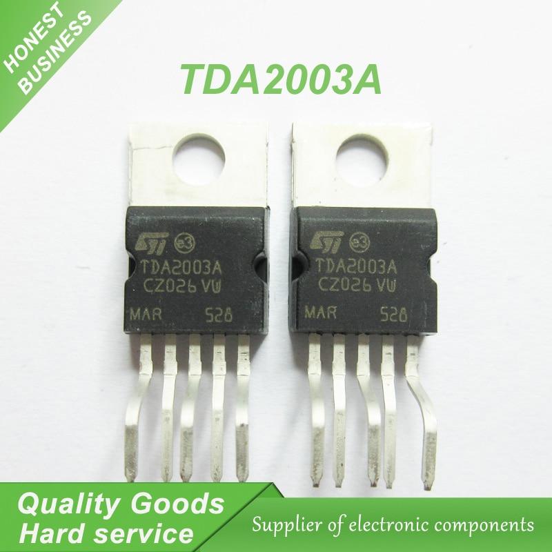 10PCS free shipping TDA2003 TDA2003A power amplifier chip single supply 12V 10W power amplifier chip 100% new original