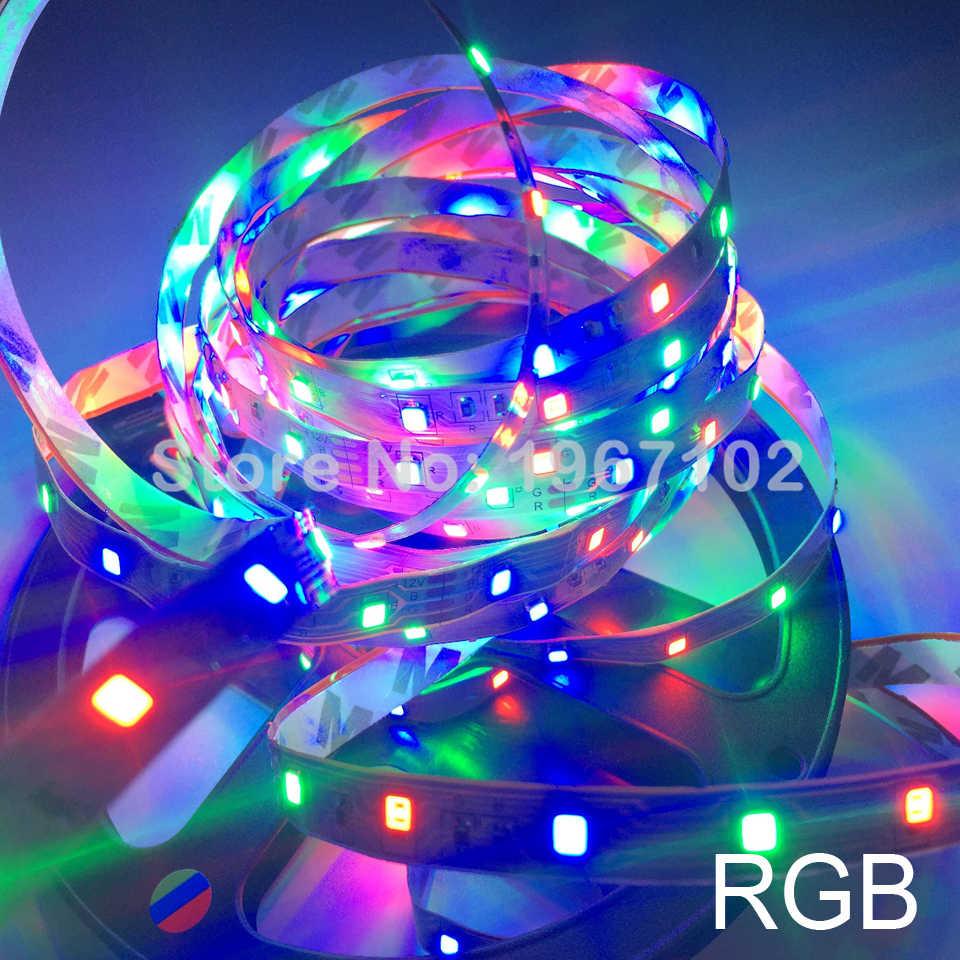 Taśma LED light 5 m 60 diody LED/m SMD 2835 biały ciepły biały zielony czerwony niebieski taśma LED 12 V nie wodoodporna elastyczna taśma z paskiem
