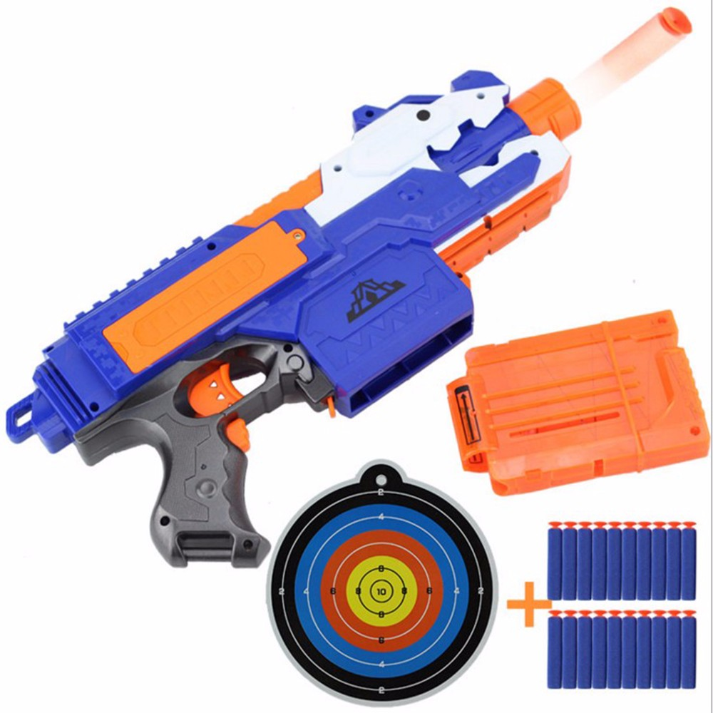 Electric Soft Bullet Toy Gun Set For Children Dart Suit For Nerf Darts Suit With Gun Bullet Clip Rifle Target Kids Gift