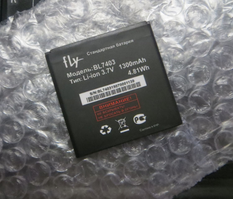 3.8V batteries Rechargeable Li-ion Li-polymer Built-in lithium polymer battery for <font><b>BL7403</b></font> <font><b>FLY</b></font> 1300mAh image