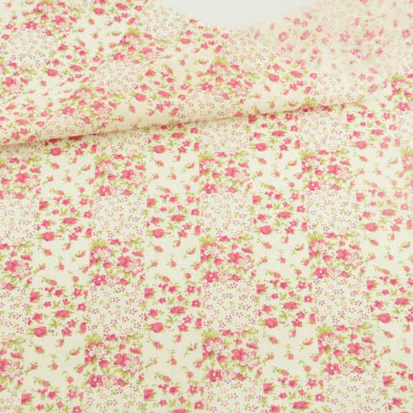 Mały czerwony kwiat i zielone liście projekt Tecido Patchwork Scrapbooking tkaniny tekstylia domowe tkanki tkanina bawełniana lalki dekoracji