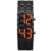Aidis 청소년 스포츠 방수 전자 세대 이진 LED 디지털 남성 시계 합금 손목 스트랩 시계