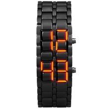 АИДИС Молодежные спортивные часы водонепроницаемые электронные второе поколение двоичный светодиодный цифровой мужские часы сплав наручные часы с ремешком