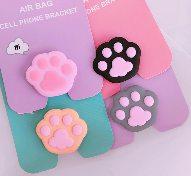 New mobile phone bracket Cute hello kitty airbag Phone POP Expanding Stand Finger Holder Sakura luna cat phone ring 4