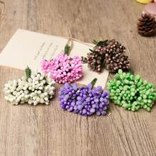 2018 Berry Artificial Stamen Flower For Wedding Box Decoration Pistil Mini DIY Scrapbooking Garland Craft Fake Flowers 12Pcs/lot(China)