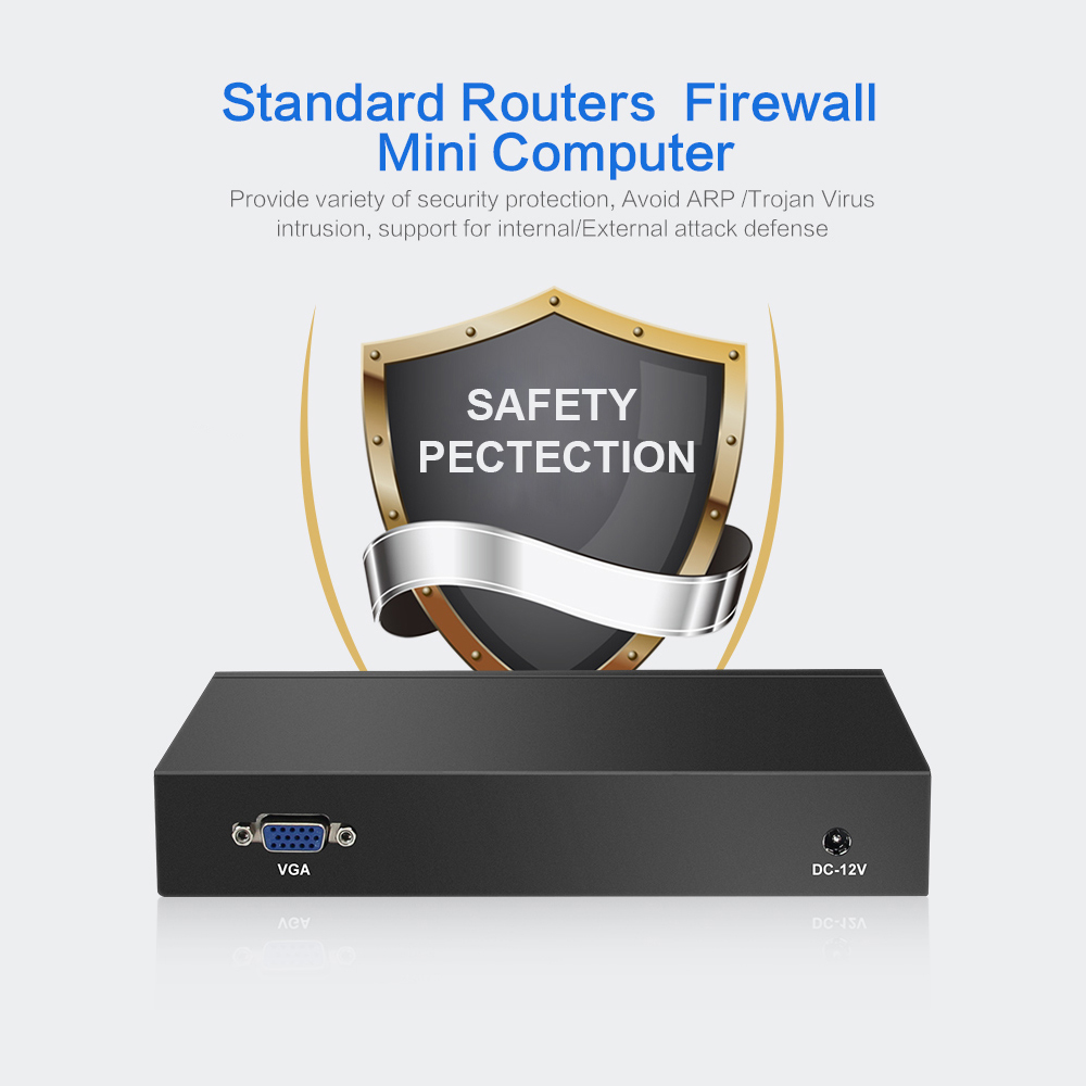 XCY Firewall Router Mini PC Intel Celeron J1900 J1800 4x Gigabit - PC mini - Foto 4