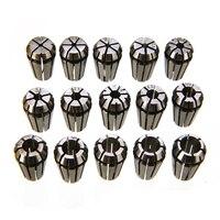 15 pçs/set ER11 Primavera Collet Set 1-7mm Precisão Collet Chuck Set Para Torno CNC Máquina de Gravura Moinho Ferramenta
