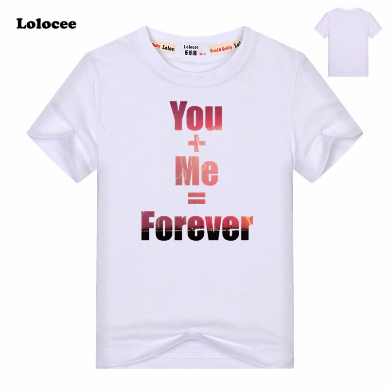 Boys Summer T-shirts Best Friends Forever Print T Shirt 100%Cotton Short Sleeve Funny Tee Kids Brand New Clothing 3-13y
